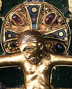 the halo of the Christ in Aribert's Evangeliary (XI Century)