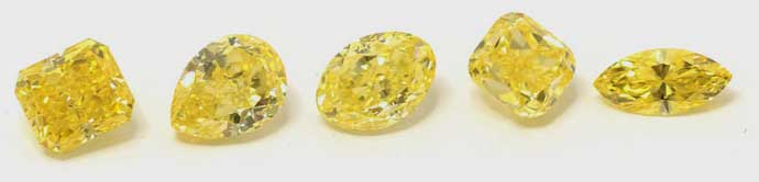 Diamante canary yellow